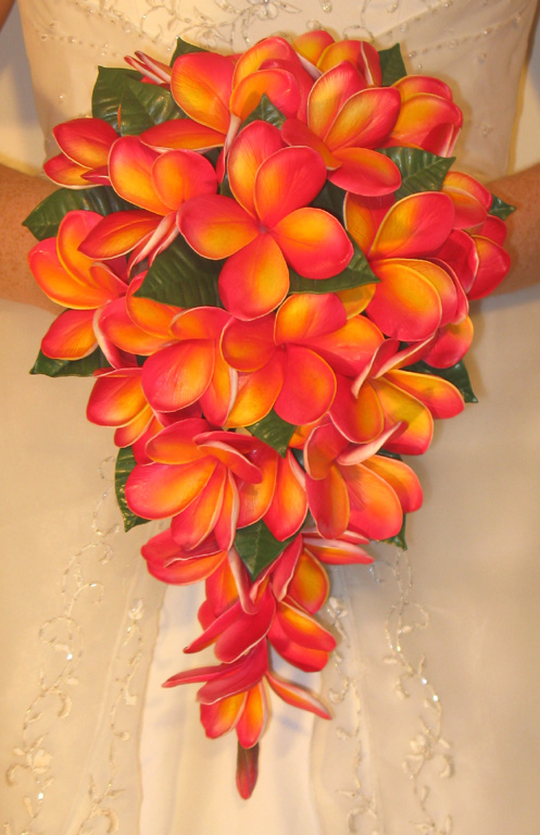 Fake Wedding Flowers Frangipanis : Real touch artificial frangipani wedding bouquets